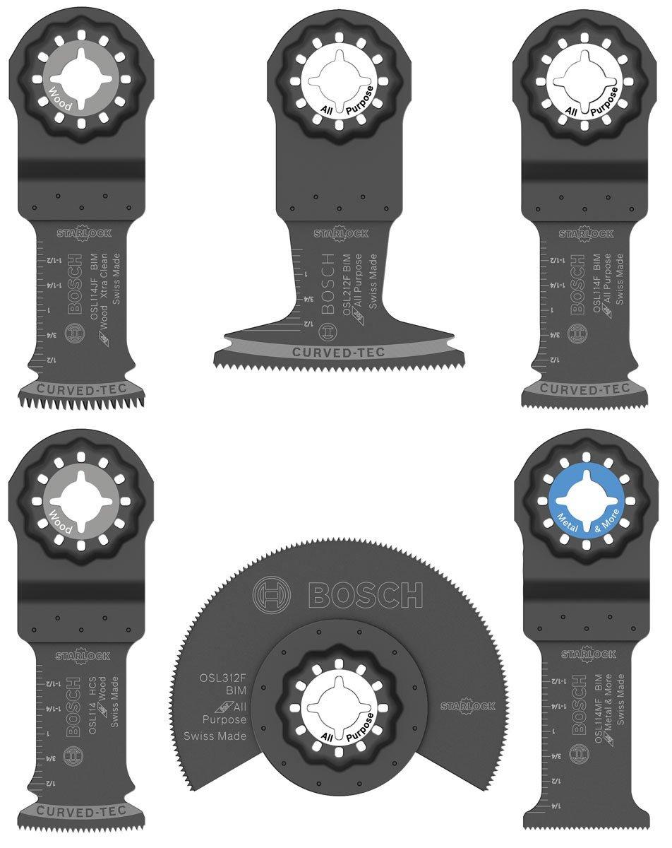 Bosch OSL006 Starlock Oscillating Multi-Tool Accessory Blade Set