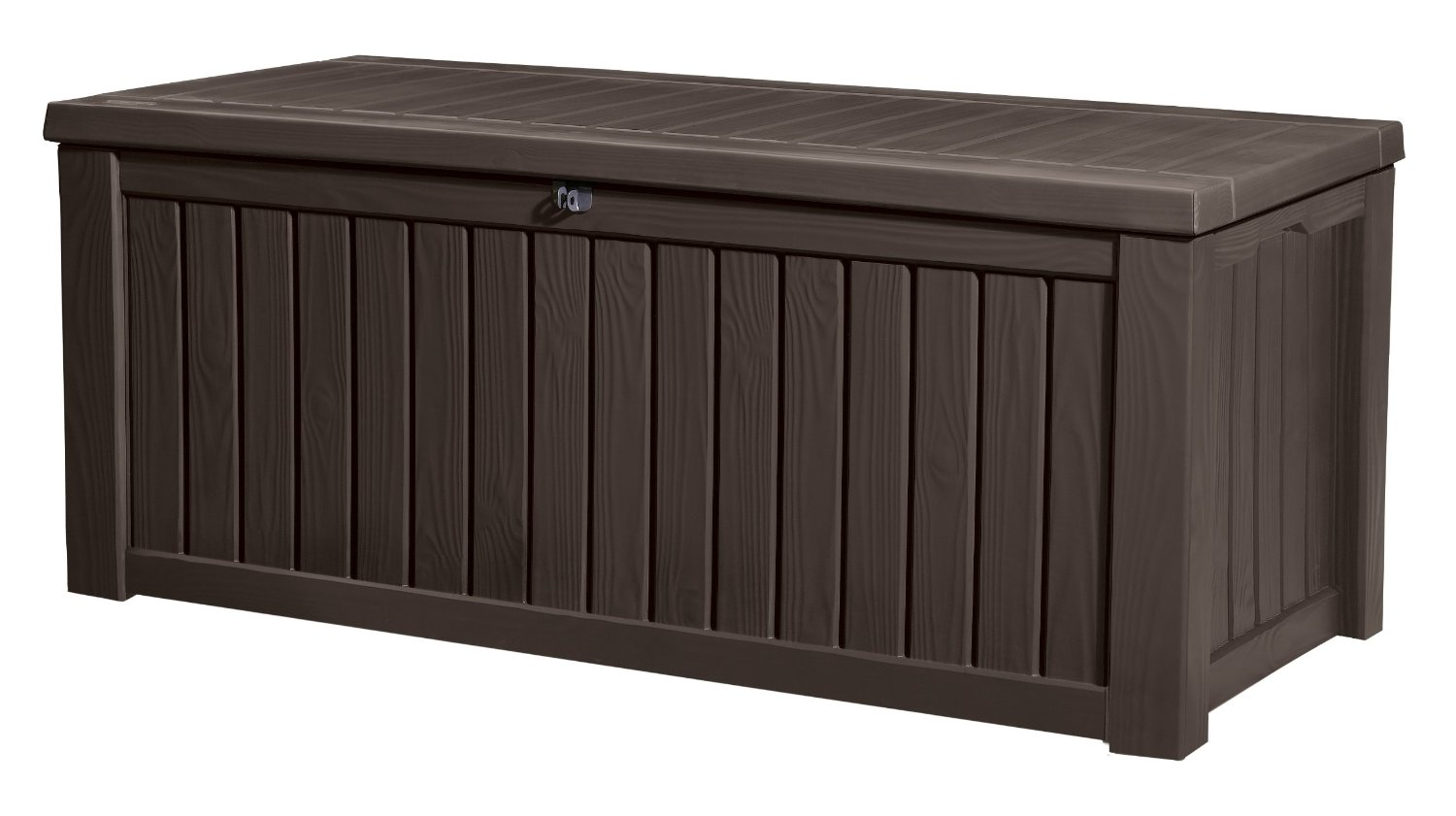 Keter Rockwood Plastic Deck Storage Container Box