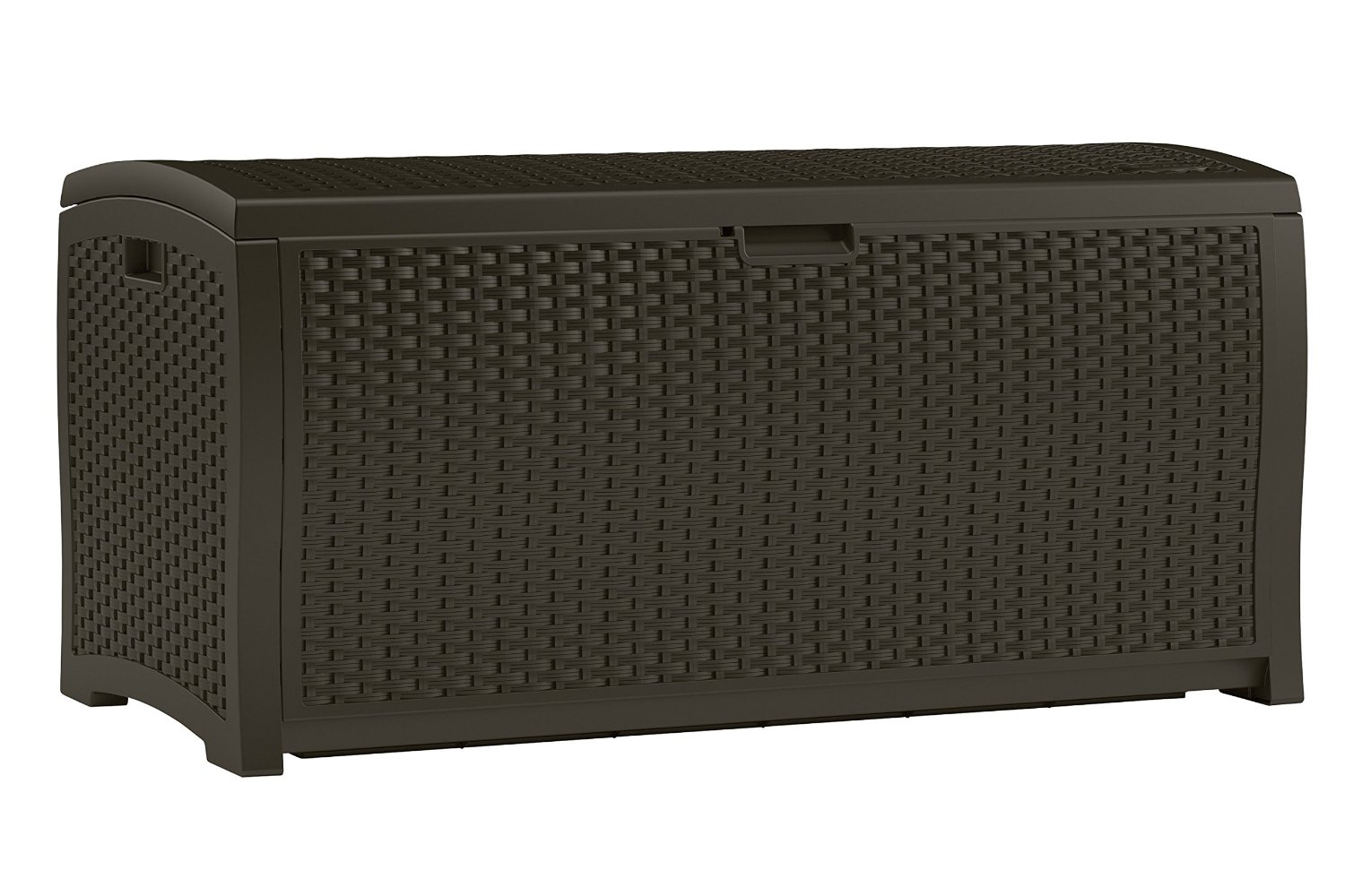 Suncast DBW9200 Mocha Wicker Resin Deck Box