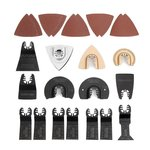 WORKPRO 25-piece Oscillating Multitool Accessories Saw Blades Quick Release Kit