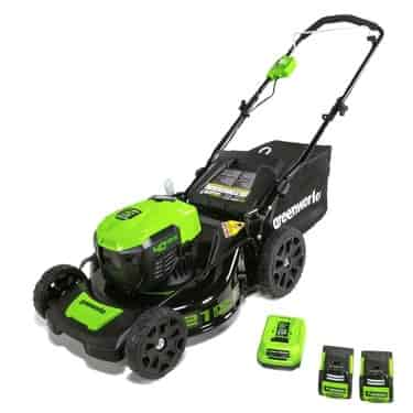GreenWorks MO40L2512 G-MAX 40V 21 Brushless Dual PH Mower with Two 25AH Batteries and Charger