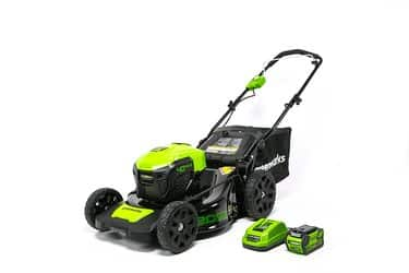GreenWorks MO40L410 G-MAX 40V 20-Inch Cordless 3-in-1 Lawn Mower with Smart Cut Technology 1 4Ah Battery and Charger included