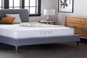 LUCID 10 Inch Gel Memory Foam Mattress - Dual-Layered - Olympic Queen-min