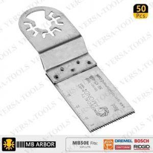 50pk Fast Cut Wood & Plastic Multi Tool Blades-min