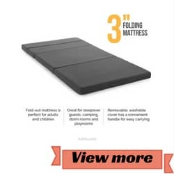 LUCID 3 Inch Tri-Folding Mattress review
