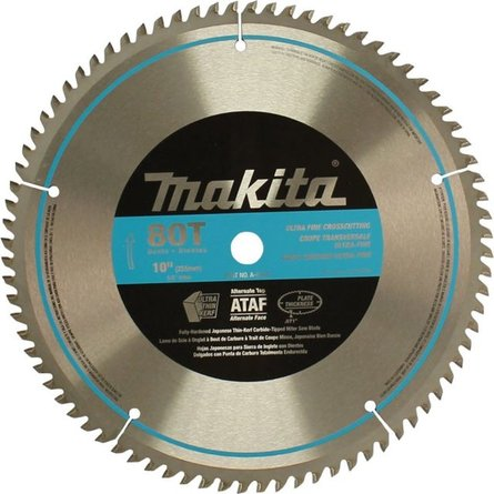 Makita A-93681 10-Inch 80 Tooth Micro Polished Mitersaw Blade