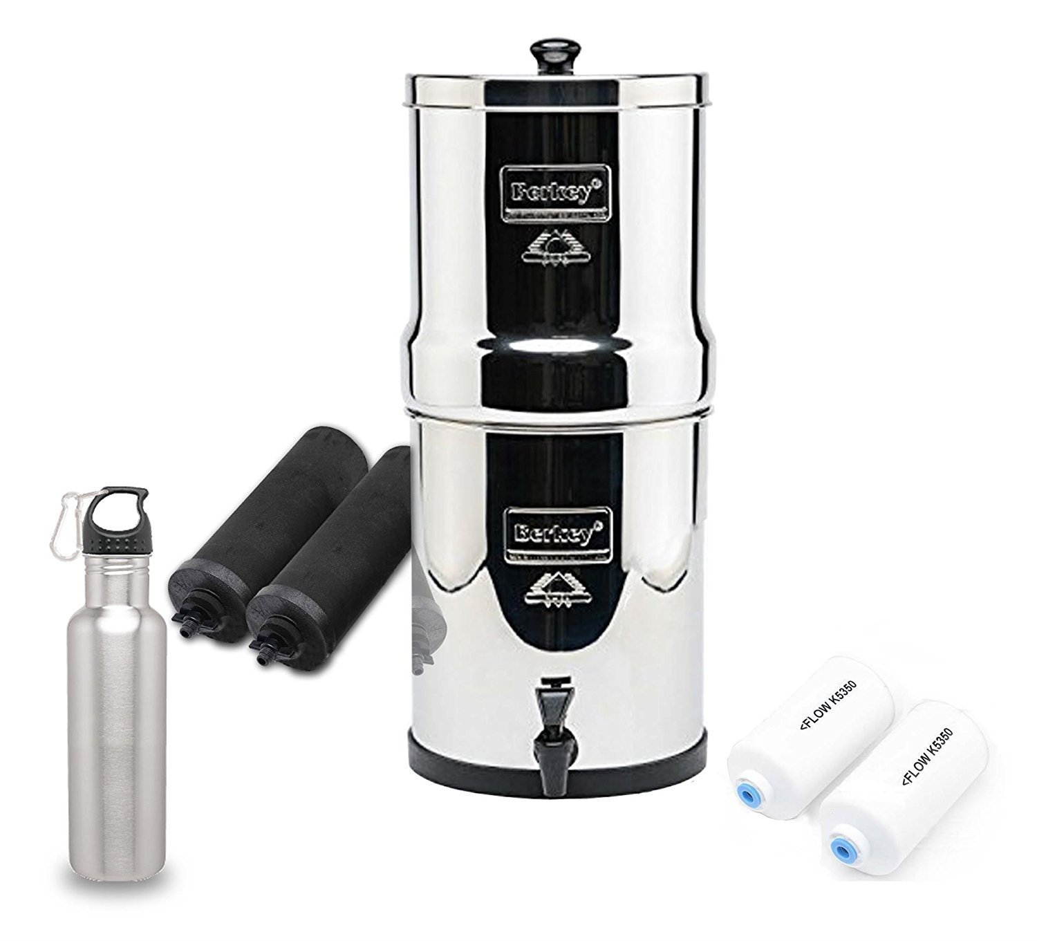 Big Berkey Water Filter System Black Purifier Filters