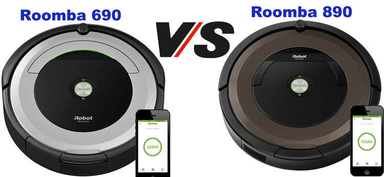 Roomba 690 vs 890 Comparison