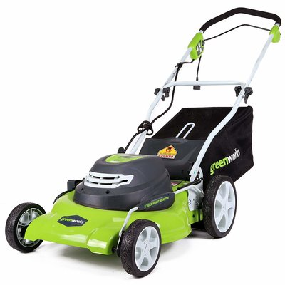 7. GreenWorks 25022 Corded Lawn Mower