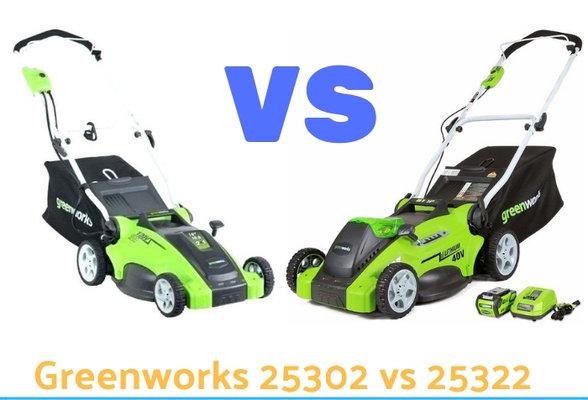 Greenworks 25302 vs 25322