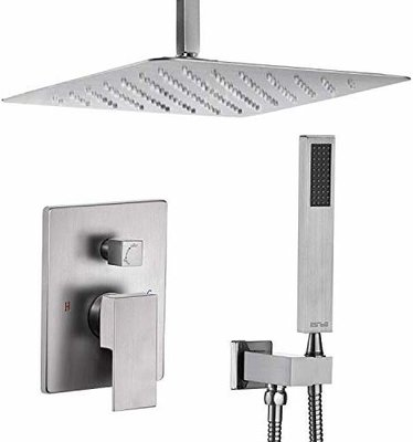 Esnbia Shower System Ceiling Brushed Nickel