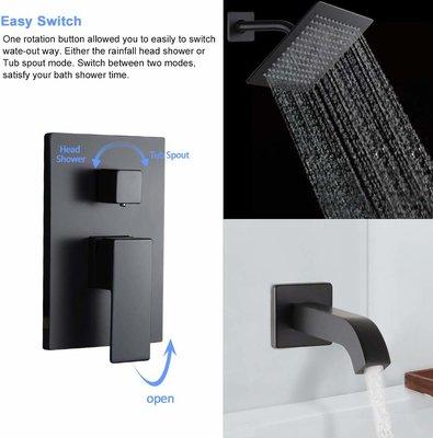 POP Black Shower Faucet Set