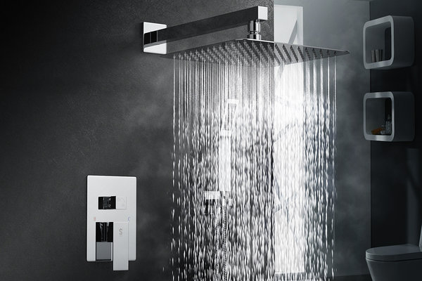 wall mounted rain shower head