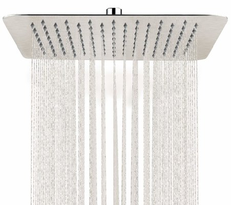 SR SUN RISE Brushed Nickel Rainfall Showerhead