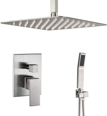 Artbath Ceiling Mount Shower System Brushed Nickel