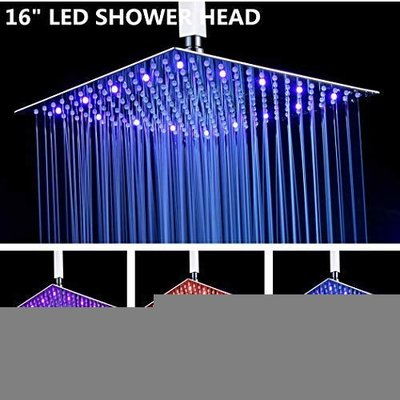 Fyeer 16 Inches LED Rainfall Shower Head