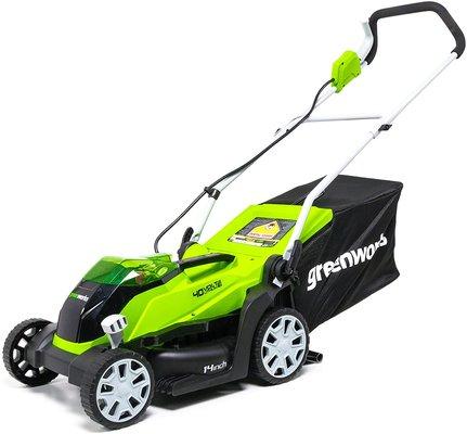 Greenworks MO40B00 40V 14-Inch Cordless Lawn Mower