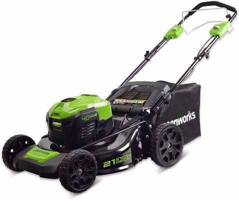 Greenworks 21-inch 40v self-propelled cordless lawn mower