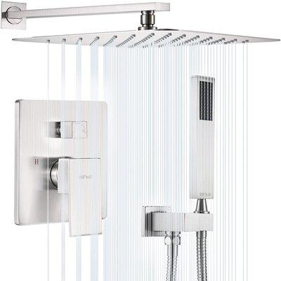 Esnbia Shower System, Brushed Nickel Shower Faucet Set