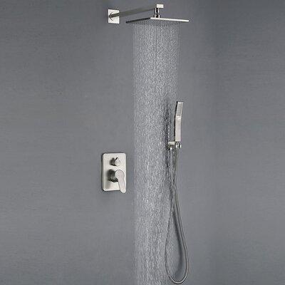 All Metal Brushed Nickel Shower Faucet